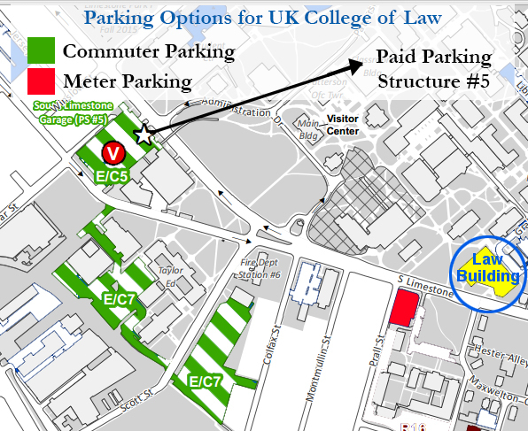 Parking Options for College of Law
